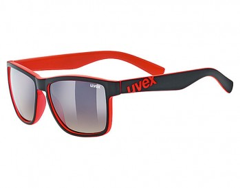 Okulary Uvex Lgl 39 black mat red