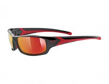 Okulary Uvex Sportstyle 211 black red