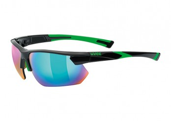 Okulary Uvex Sportstyle 221 black green