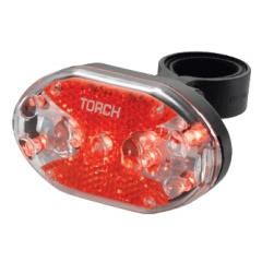 Lampka tylna TORCH TAIL BRIGHT 9X czarna (NEW)